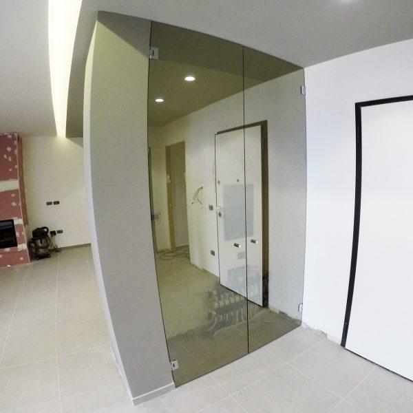 Porta vetro battente senza telaio Crotone - Calabria