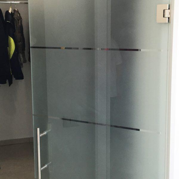 Porte battenti in vetro senza telaio Crotone - Calabria