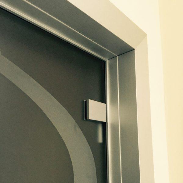 Porte battenti in vetro telaio alluminio Crotone - Calabria