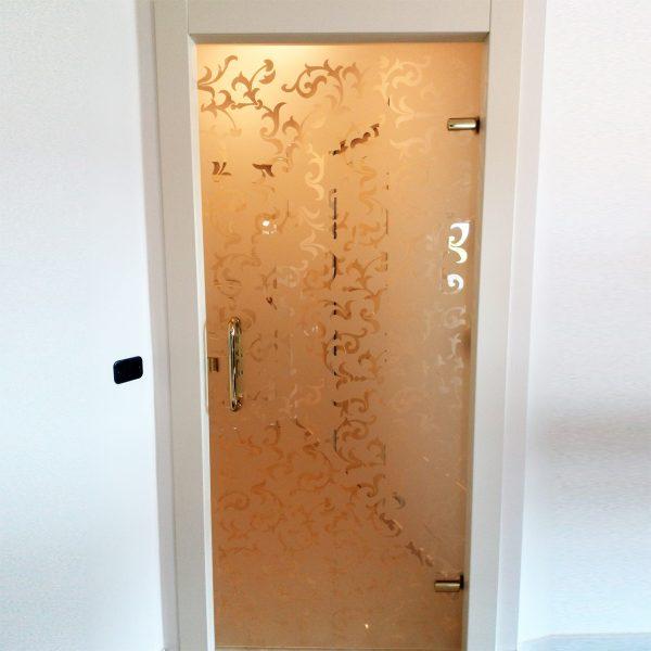 Porte battenti in vetro telaio legno Crotone - Calabria